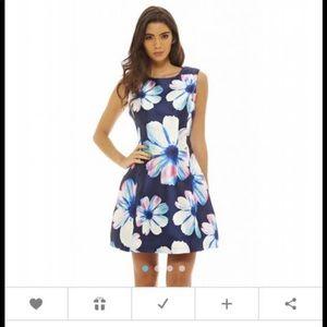 35d7684b195d NWT Ax Paris A line mini dress size US 6 UK 10 $40